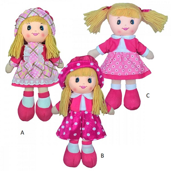 BSCI Approved factory Custom plush doll manufacturers soft rag dolls