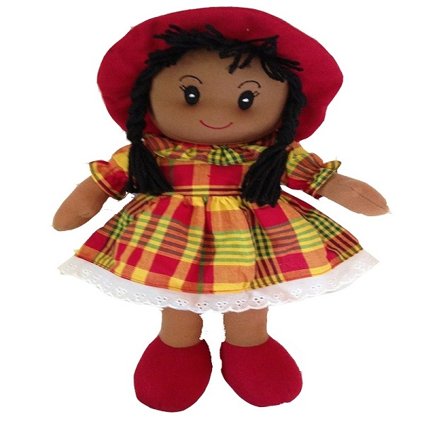 Custom China made Jamaican Handmade Reversible Island Rag Doll Caribbean cloth doll factory