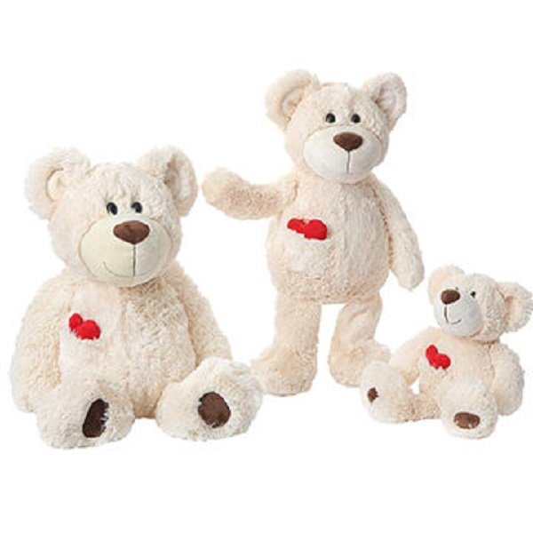 China made Personalized lovely White promotion plush teddy bear toys