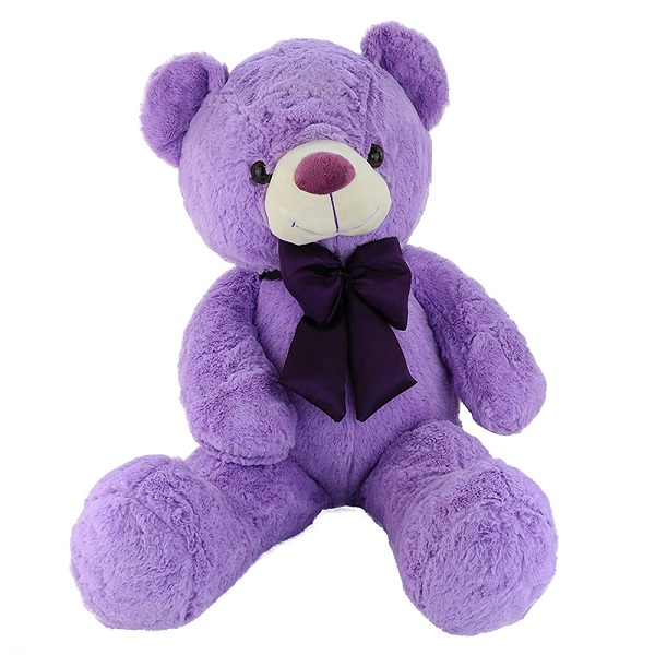 Manufacturing stuffed customized Plush Purple Giant teddy bear