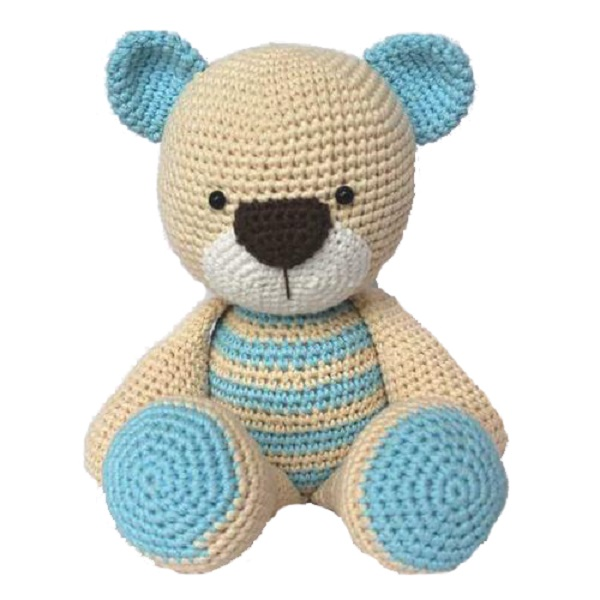 China Factory custom handmade tummy crochet teddy Amigurumi bear toy