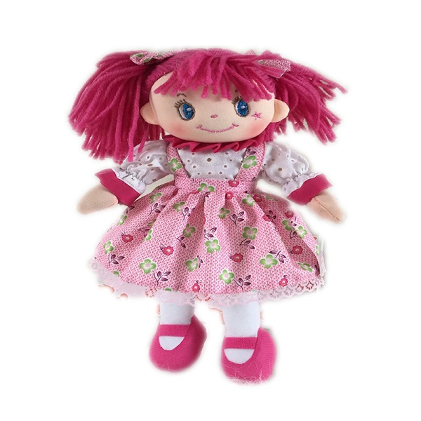 custom handmade plush soft fabric rag doll