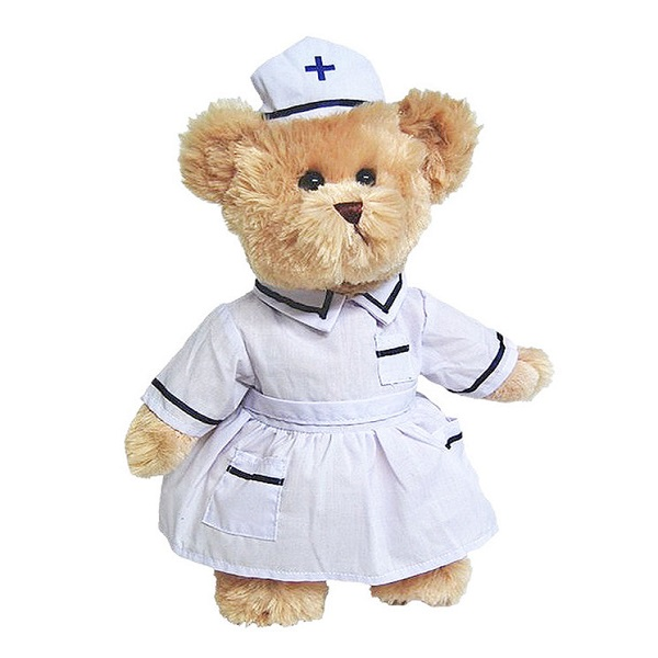 Nurse Dressed outfit toy bear.jpg
